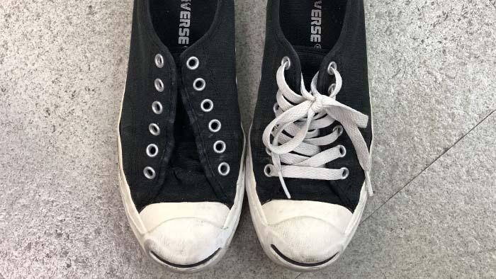 ジャックパーセルの靴ひも